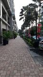 Promenade de ville Photo stock