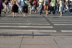 Promenade de ville Image stock