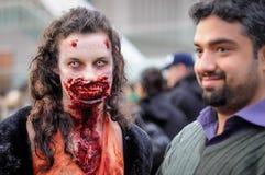 Promenade de zombi Photographie stock