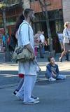 Promenade de zombi de Belgrade Photographie stock libre de droits