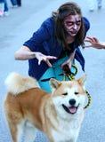 Promenade de zombi de Belgrade Images libres de droits