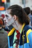 Promenade de zombi de Belgrade Image stock