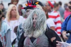 Promenade 2016 de zombi de New Jersey Photo libre de droits