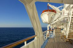 Promenade deck on a cruise ship Royalty Free Stock Photo
