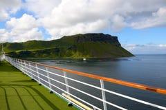 Promenade deck of a cruise ship Royalty Free Stock Photos