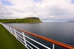 Promenade deck of a cruise ship Stock Image