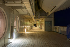 Promenade Deck at Night Stock Photography