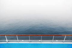 Promenade deck and railing of cruise ship Royalty Free Stock Photos