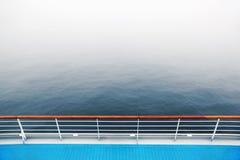 Promenade deck and railing of cruise ship Royalty Free Stock Photos