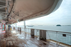 Promenade Deck, Super Star Virgo. The deck on the Promenade deck of the Super Star Virgo cruise ship Stock Photography