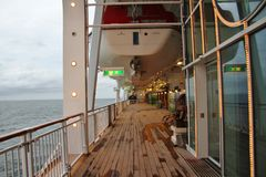 Promenade deck Stock Images