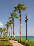 'promenade' del Caribe imagen de archivo libre de regalías
