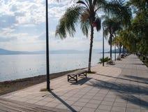 'promenade' del lago Fotografía de archivo