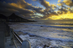 'promenade' del punto del mar Foto de archivo libre de regalías