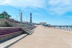 'promenade' del Queens de Blackpool Imagen de archivo libre de regalías