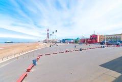 'promenade' del Queens de Blackpool Foto de archivo libre de regalías
