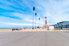 'promenade' del Queens de Blackpool Imágenes de archivo libres de regalías