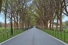 'promenade' del Washington DC Imágenes de archivo libres de regalías