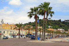 Promenade des Anglais, Νίκαια, Γαλλία Στοκ Φωτογραφίες