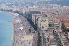 Promenade des Anglais, Νίκαια, πόλη, αστική περιοχή, αεροφωτογραφία, μητροπολιτική περιοχή Στοκ φωτογραφία με δικαίωμα ελεύθερης χρήσης