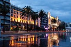 Promenade des Anglais στη Νίκαια Γαλλία Στοκ εικόνες με δικαίωμα ελεύθερης χρήσης