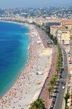 Promenade des Anglais στη Νίκαια, Γαλλία Στοκ Εικόνες