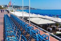 Promenade des Anglais στη Νίκαια, Γαλλία Στοκ εικόνες με δικαίωμα ελεύθερης χρήσης