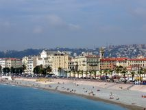 Promenade des Anglais Stock Photography