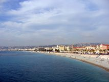 Promenade des Anglais. Nice, cote d'azur from rauba capeu Royalty Free Stock Images