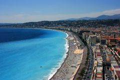 Promenade des Anglais Royalty Free Stock Photos