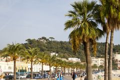 Promenade des Anglais Stock Foto's