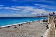 Promenade des Anglais Stock Afbeeldingen