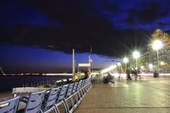 Promenade Des Anglais At Night Royalty Free Stock Photo