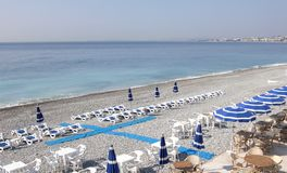 Promenade des Anglais - Beach Stock Photos