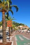 Promenade des Anglais en Niza, Francia imagen de archivo