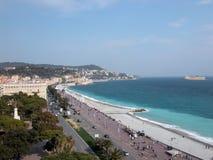 Promenade des Anglais, Nice Royalty-vrije Stock Fotografie