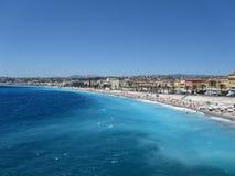 Promenade des Anglais, Nice. Promenade des Anglais beach, in Nice, France Côte d`Azur royalty free stock photo