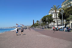 Promenade des Anglais in Nice Royalty Free Stock Photography