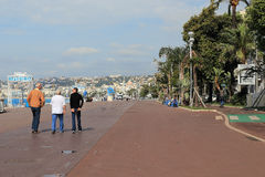 Promenade des Anglais in Nice Royalty Free Stock Images