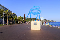 Promenade des Anglais in Nice Royalty Free Stock Image