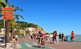 Promenade des Anglais in Nice, France Royalty Free Stock Photos