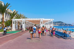 Promenade des Anglais in Nice, France Royalty Free Stock Images