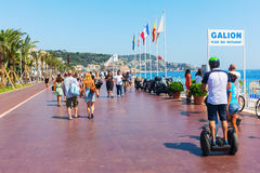Promenade des Anglais in Nice, France Stock Photography