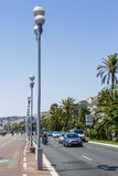 The Promenade des Anglais in Nice, France Stock Image