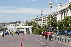 The Promenade des Anglais Stock Images