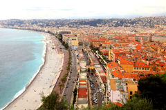 Promenade des anglais, Nice, France Stock Images