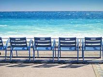 Promenade des Anglais Nice, Frankrike Arkivbild
