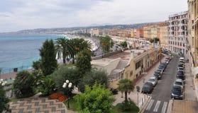 Promenade des Anglais, Nice, Kooi d'Azur, Frankrijk Stock Afbeeldingen