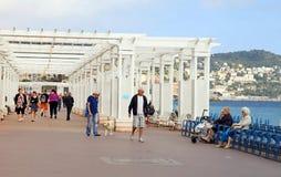 Promenade des Anglais in Nizza, Frankreich. Lizenzfreies Stockfoto
