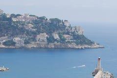 Promenade des Anglais port av Nice, för hav, för kust, kust- och oceaniska landforms, himmel royaltyfria bilder